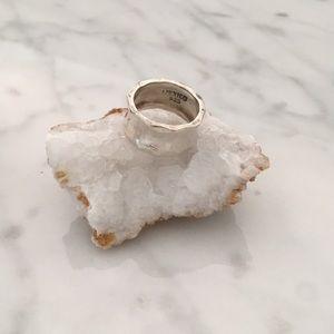 Vintage Silver 925 Beveled Ring 6